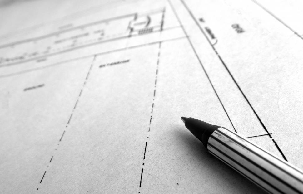 Download Free Stock HD Photo of Sketching Blueprints Online