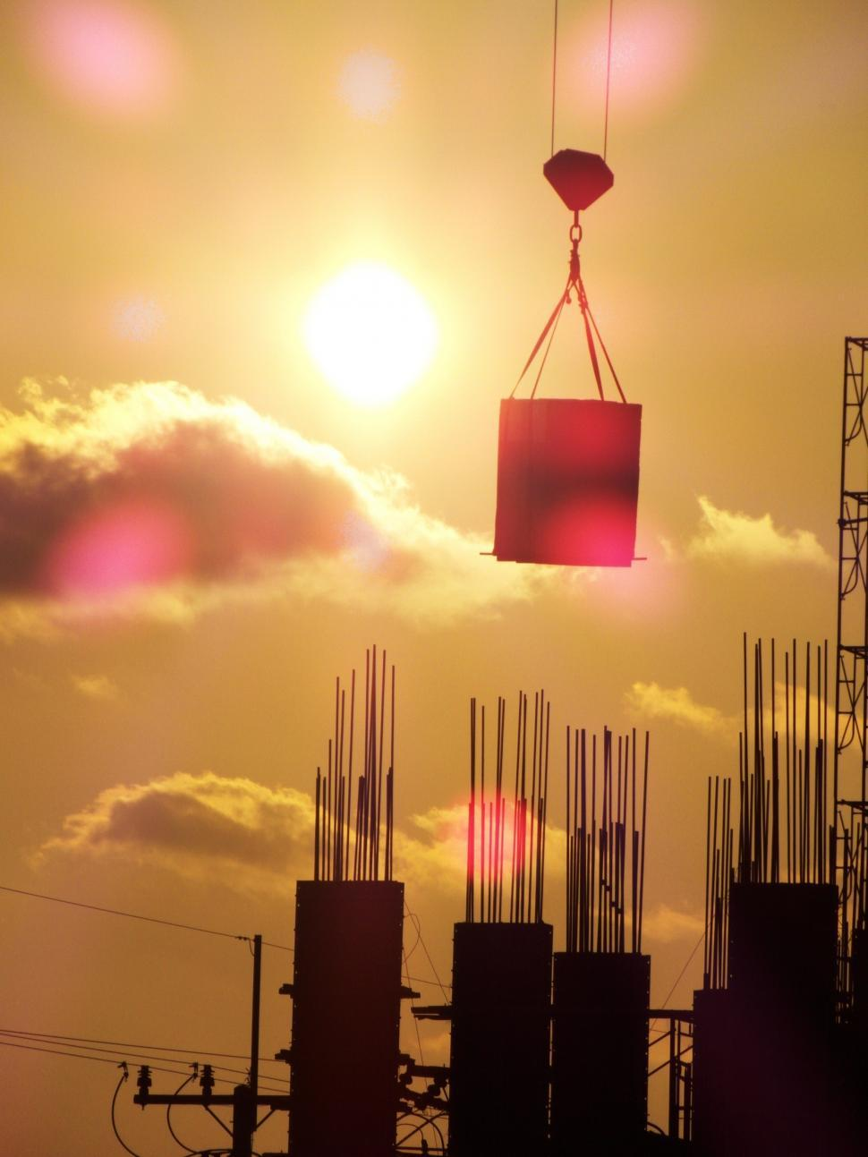Download Free Stock HD Photo of Construction Silhouette Online