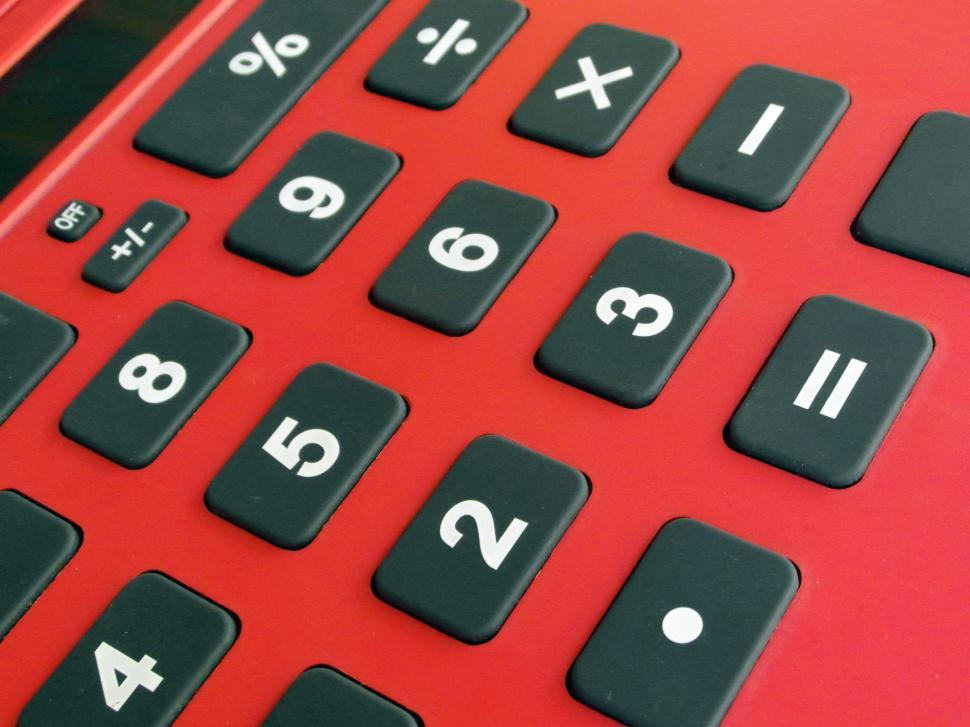 Download Free Stock HD Photo of Red Calculator Online