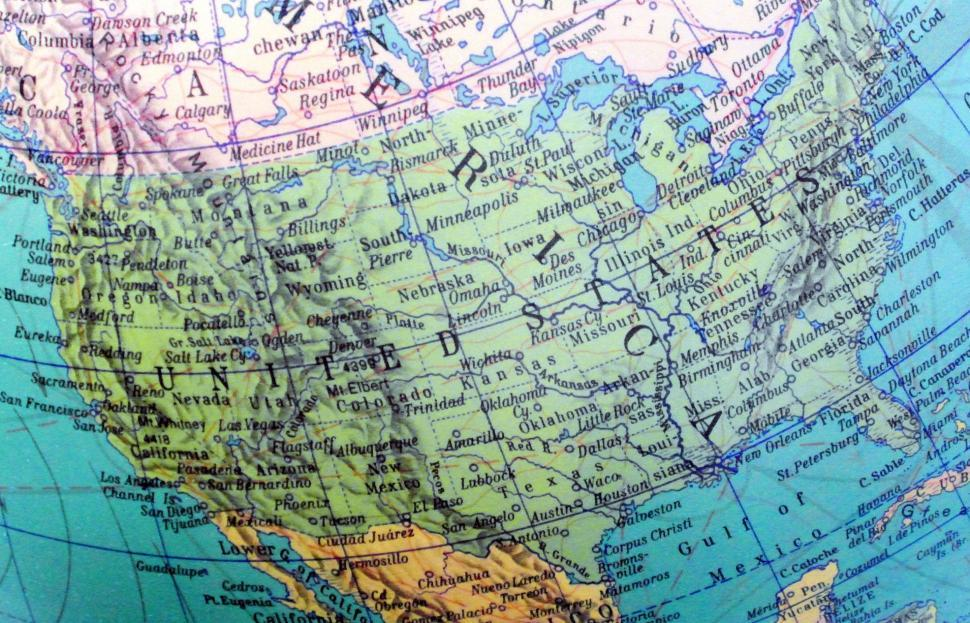 Download Free Stock HD Photo of Map of America Online