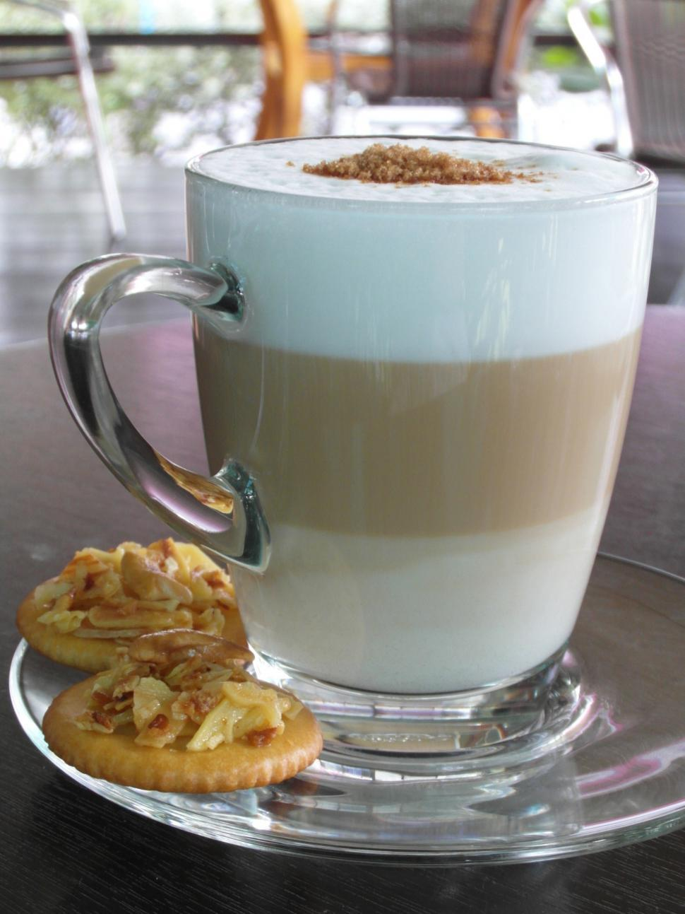 Download Free Stock HD Photo of Layered Latte with biscuits Online