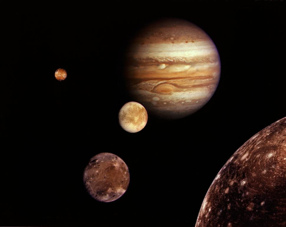 Download Free Stock HD Photo of Jupiter and Moons Online