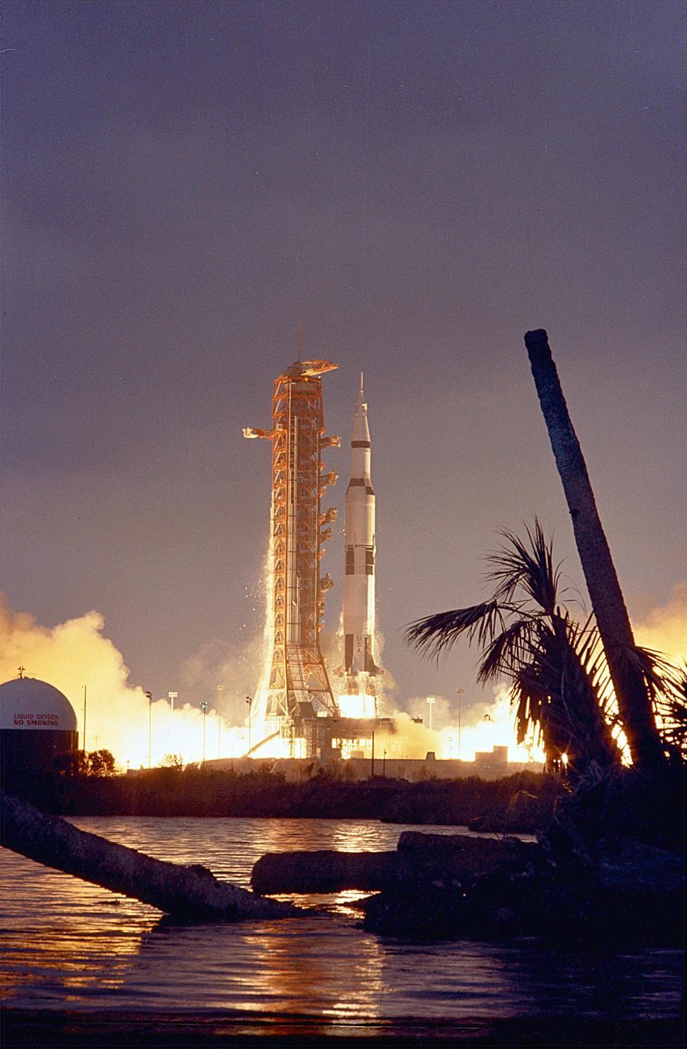 Download Free Stock HD Photo of Saturn V liftoff Online