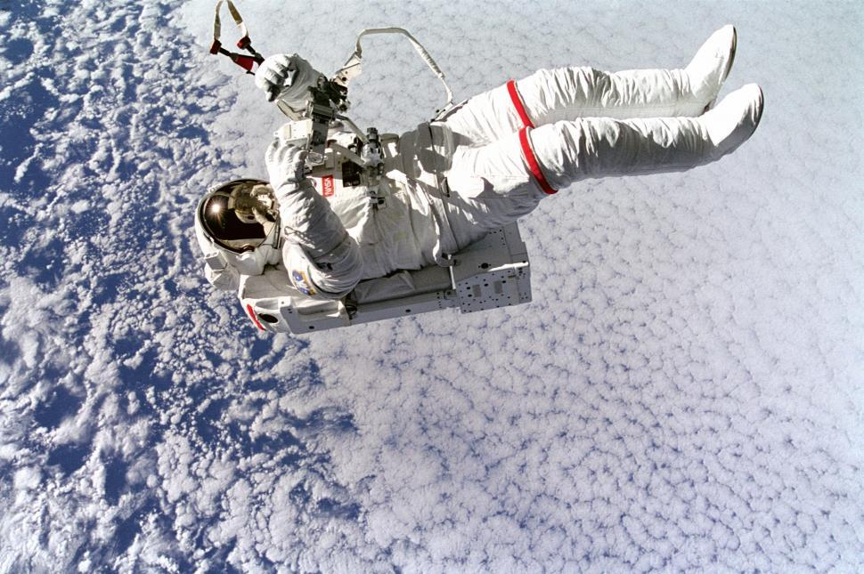 Download Free Stock HD Photo of Astronaut Mark Lee Tetherless and Free Online