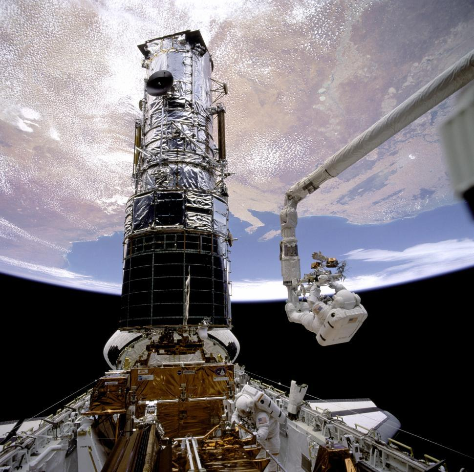 Download Free Stock HD Photo of Hubble First Servicing EVA Online