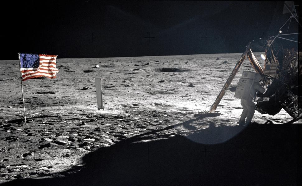 Download Free Stock HD Photo of Neil Armstrong On the Moon Online