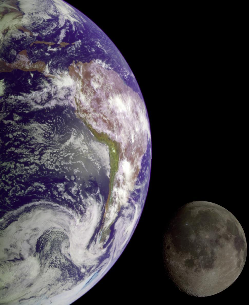 Download Free Stock HD Photo of Moon and Earth Online