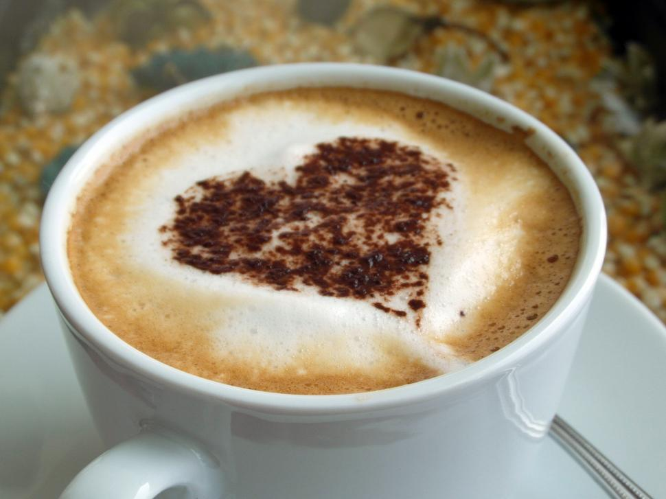 Download Free Stock HD Photo of Coffee Heart Art 2 Online