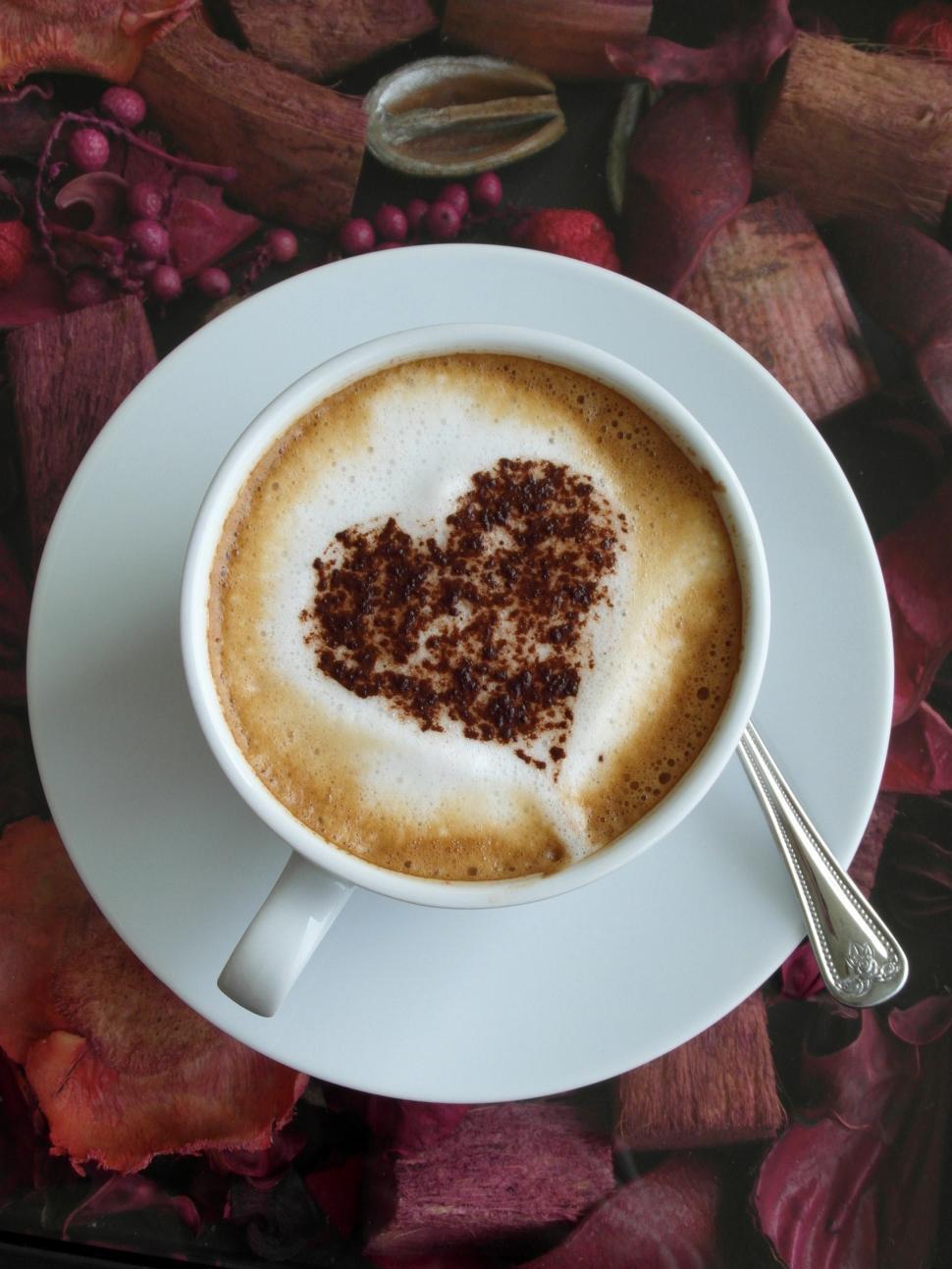 Download Free Stock HD Photo of Coffee Heart Art 3 Online