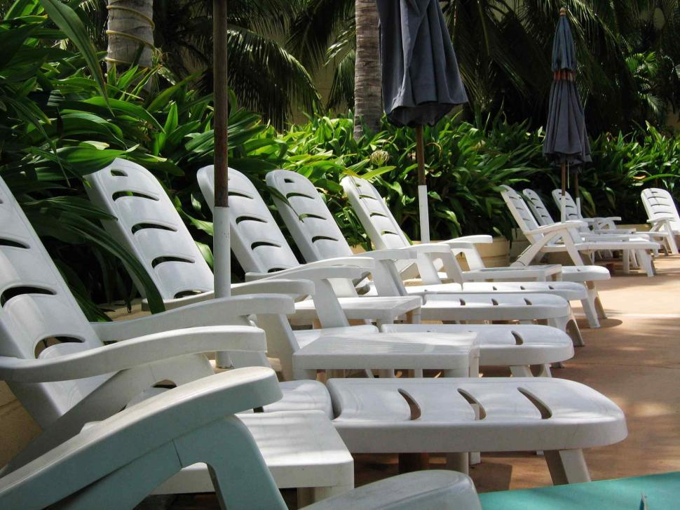 Download Free Stock HD Photo of Pool side chair Online