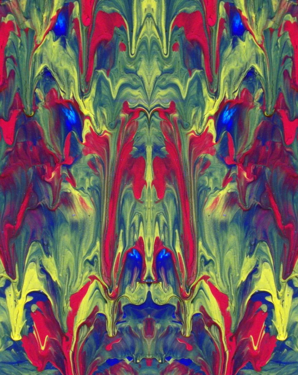 Download Free Stock HD Photo of Abstract Painted Mirror Effect Online