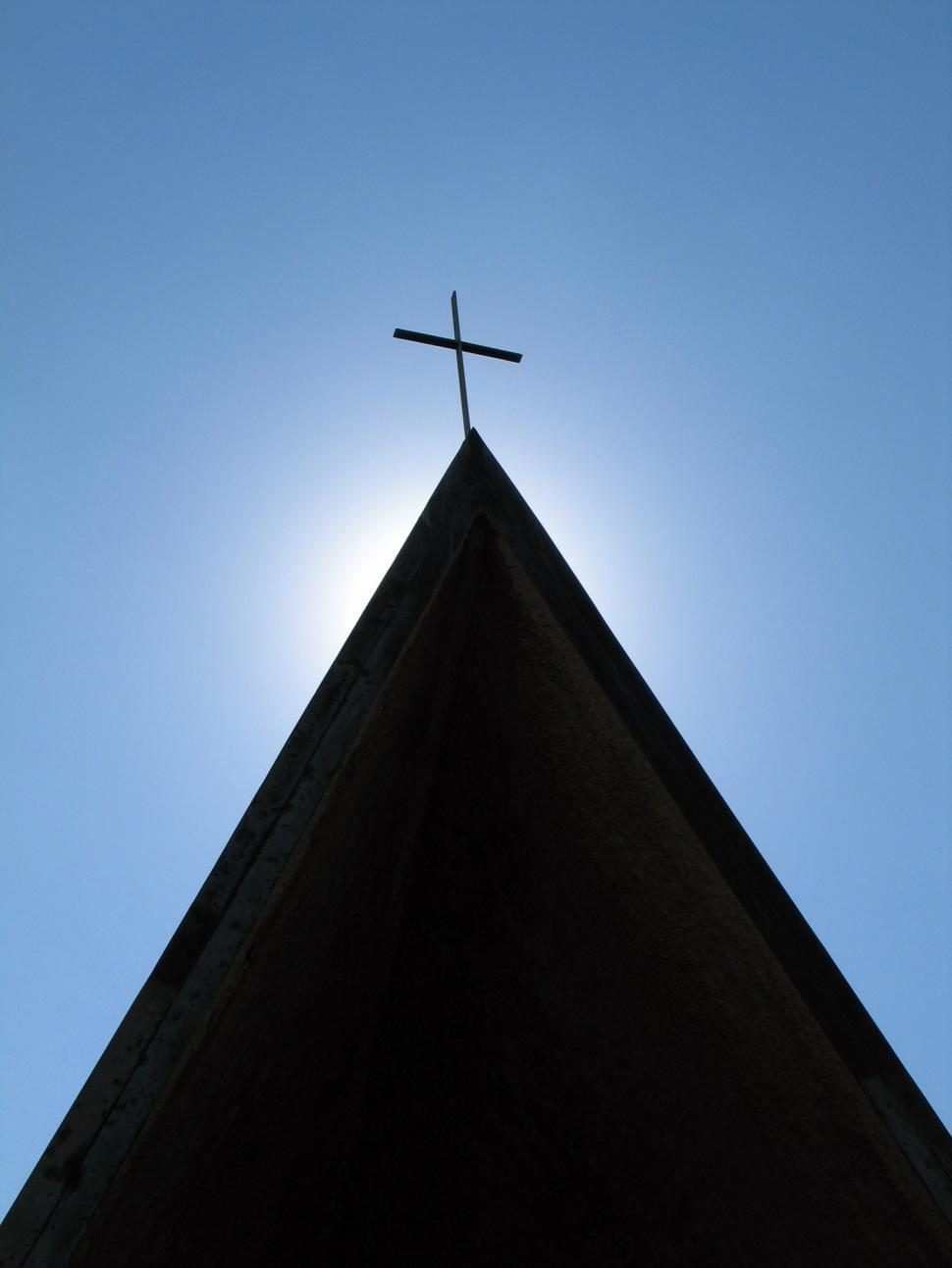Download Free Stock HD Photo of Cross on rooftop Online