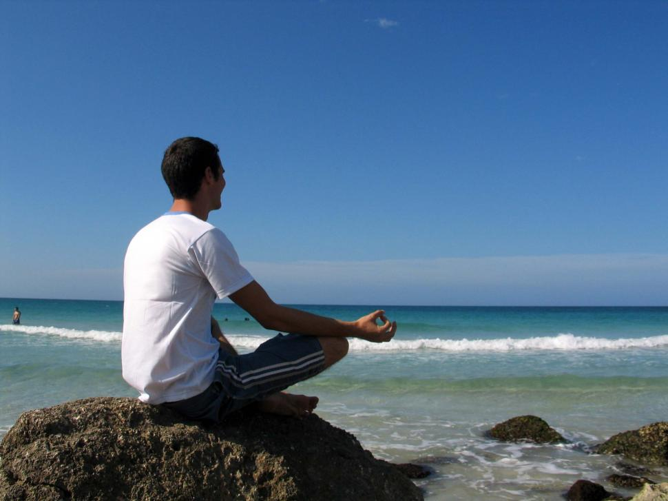 Download Free Stock HD Photo of Beach meditation Online