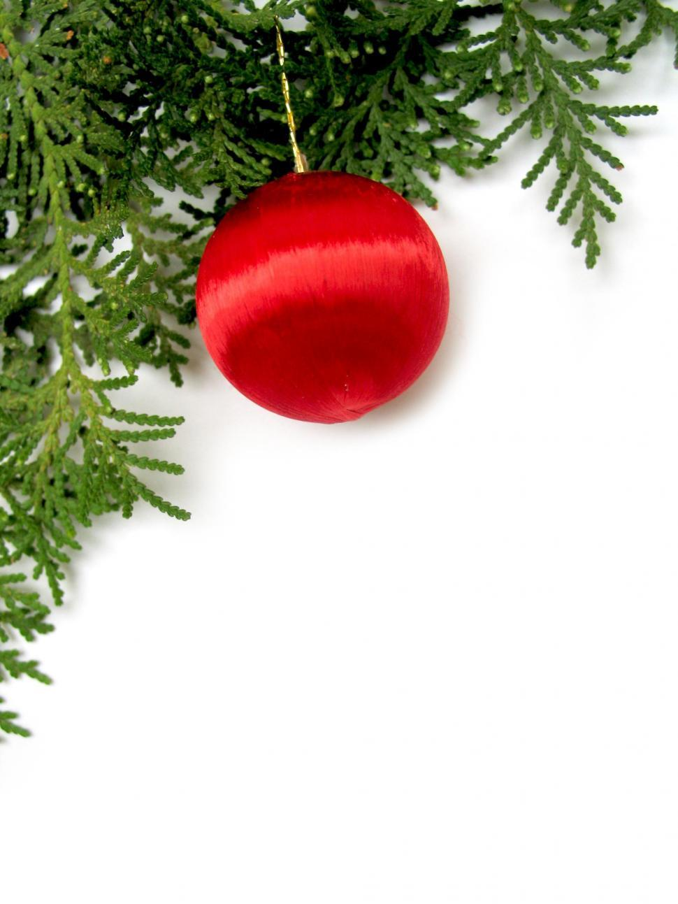 Download Free Stock HD Photo of red xmas bauble Online