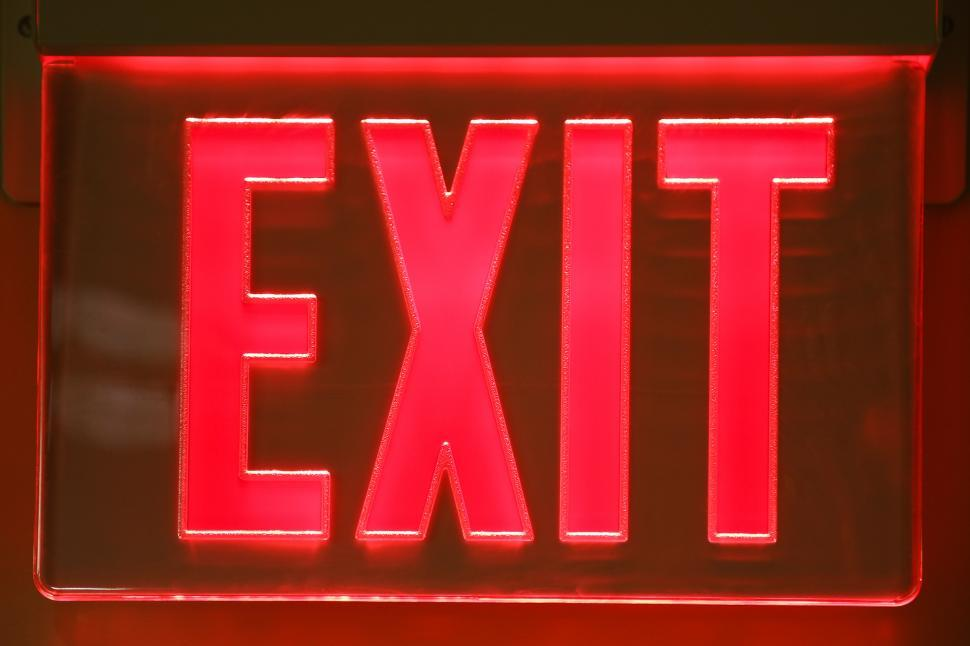 Download Free Stock HD Photo of Exit Sign Online