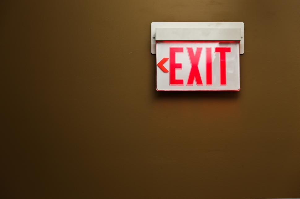 Download Free Stock HD Photo of Exit sign on the wall Online