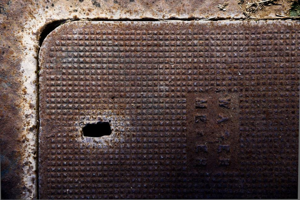 Download Free Stock HD Photo of Rusty Meter Cover Online