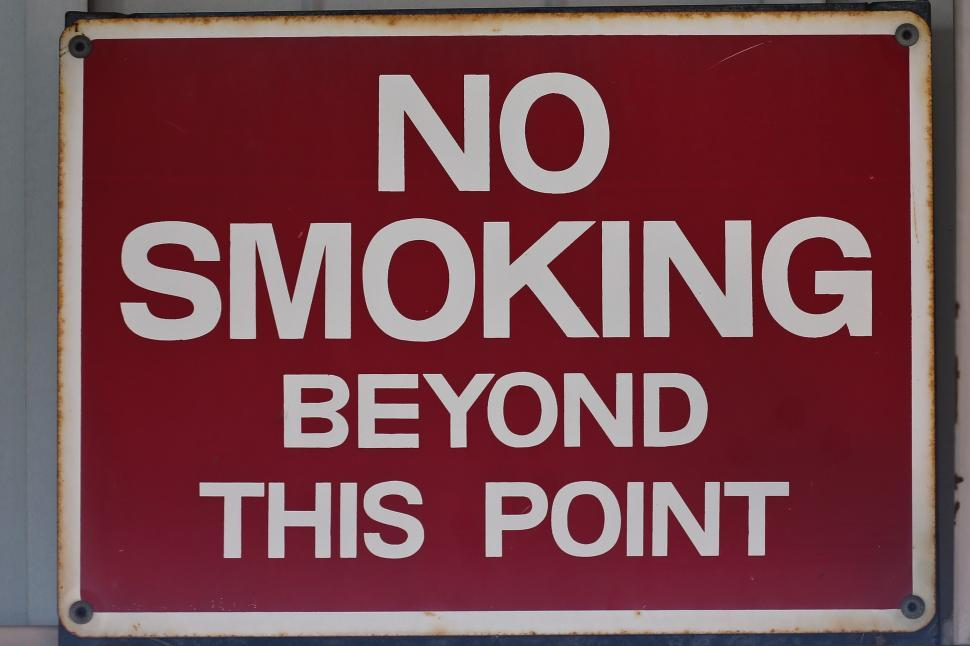 Download Free Stock HD Photo of No Smoking beyond this point.  Online