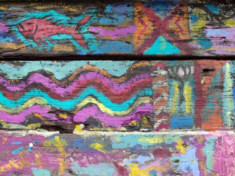 Download Free Stock HD Photo of Graffiti Art on Wood Online