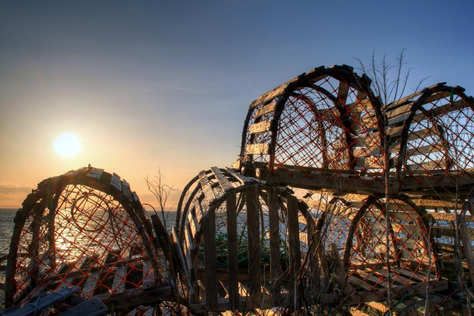 Download Free Stock HD Photo of Lobster Pots Online