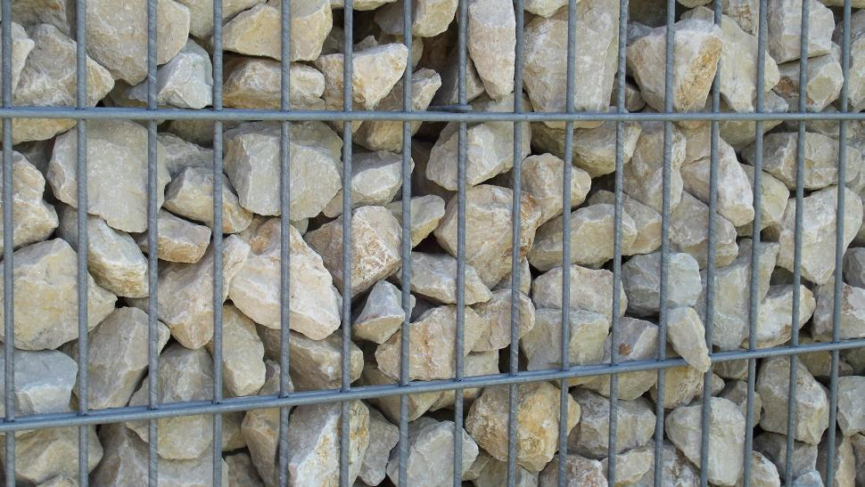 Download Free Stock HD Photo of Gabion filled with stones Online