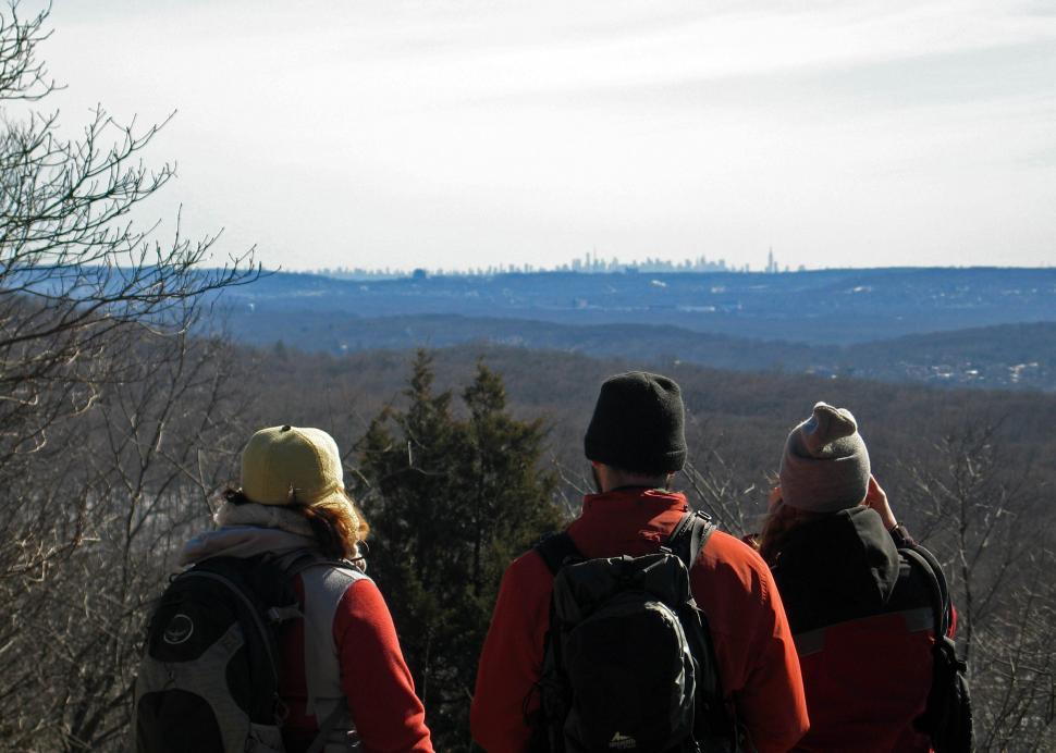 Download Free Stock HD Photo of Hikers on Pyramid Mountain NJ Online