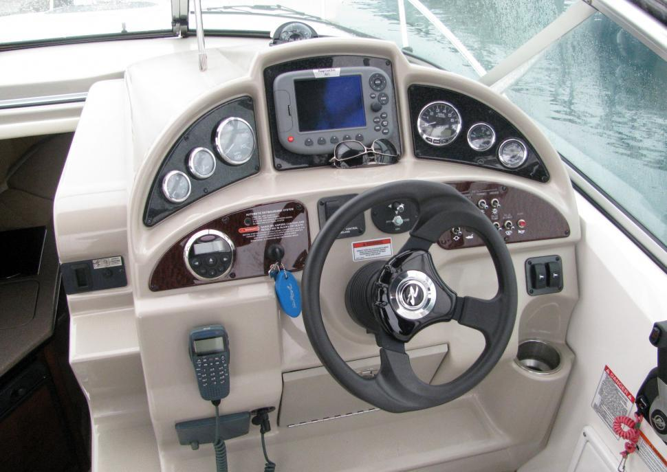 Download Free Stock HD Photo of Interior Of A Nice Modern Boat or Pleasure Craft Online