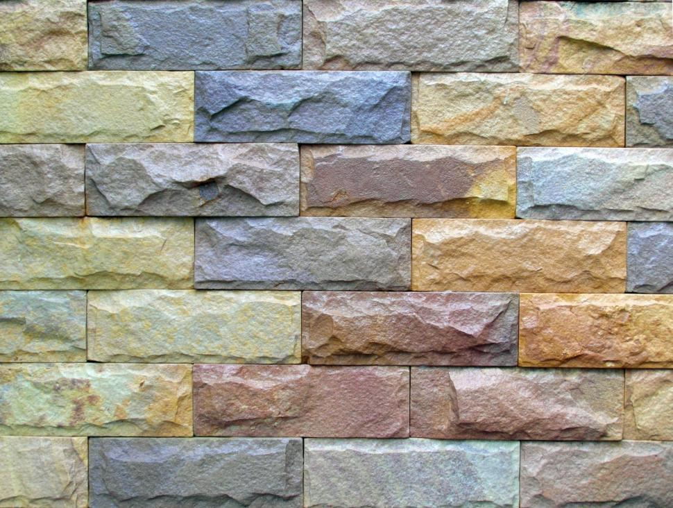 Download Free Stock HD Photo of Colored Brick Wall Online