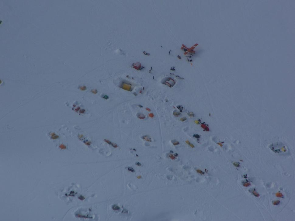 Download Free Stock HD Photo of Basecamp at Mt. McKinley viewed from plane Online