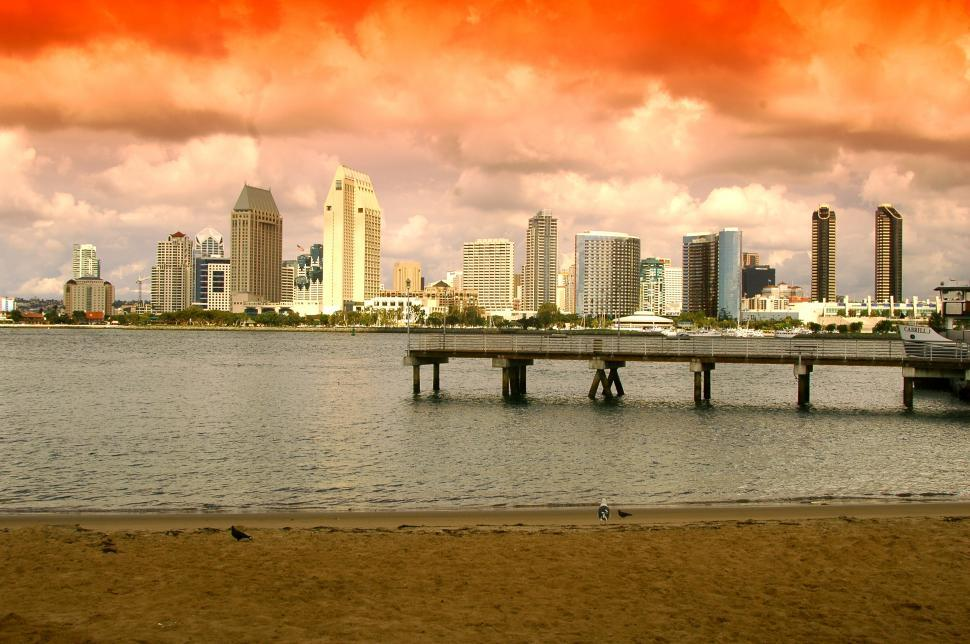Download Free Stock HD Photo of San Diego Bay awaits the Ferry Online