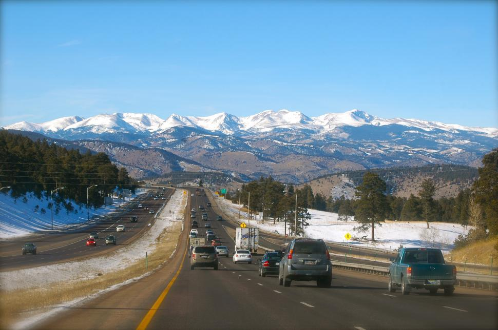 Download Free Stock HD Photo of Highway to the Mountains Online