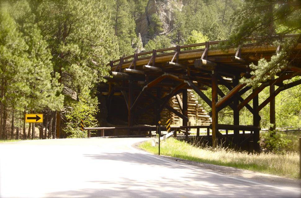 Download Free Stock HD Photo of Pigtail Bridge of the Black Hills Wood Bridge Online