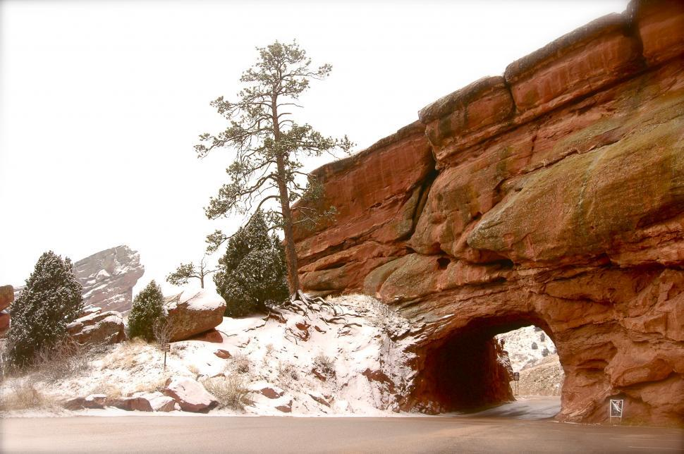 Download Free Stock HD Photo of Tunnel in the Red Rocks Online