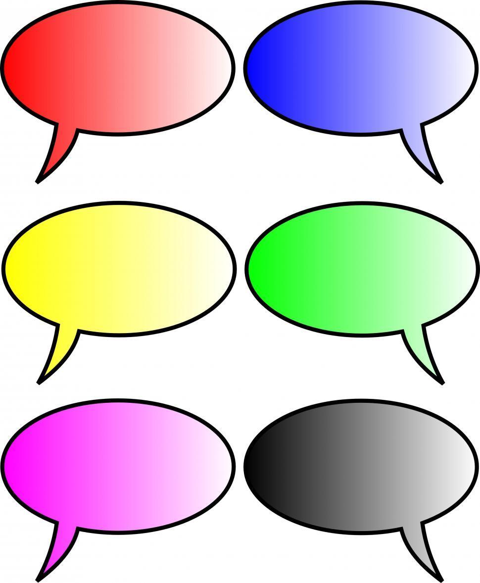 Blank Speech Bubbles Set