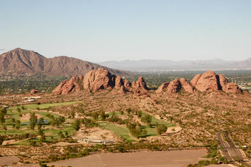 Download Free Stock HD Photo of Arizona Golf Course Aerial Online