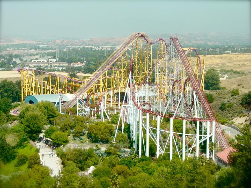 Download Free Stock HD Photo of Giant Steel roller Coaster Online