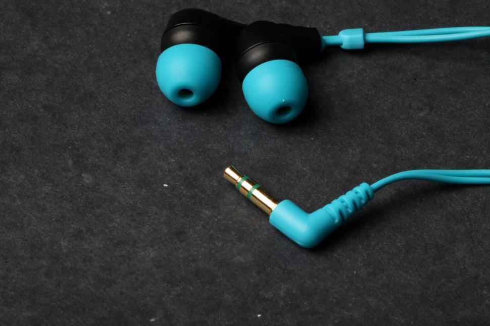 Download Free Stock HD Photo of Blue Earphones Online