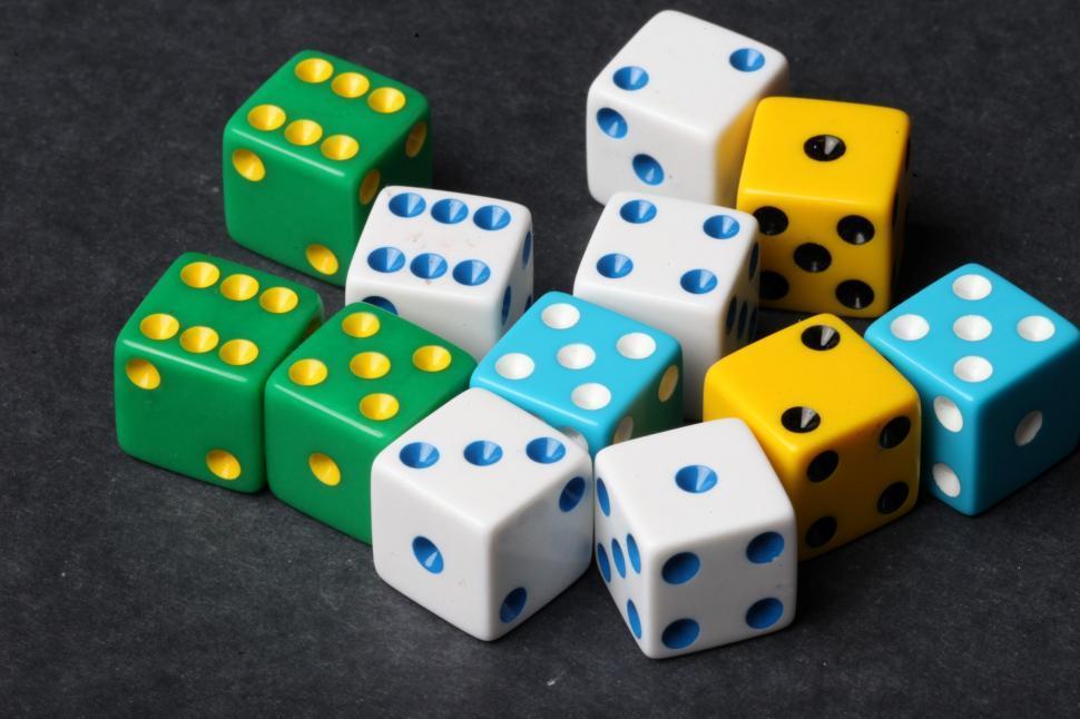 Multiple colored dice