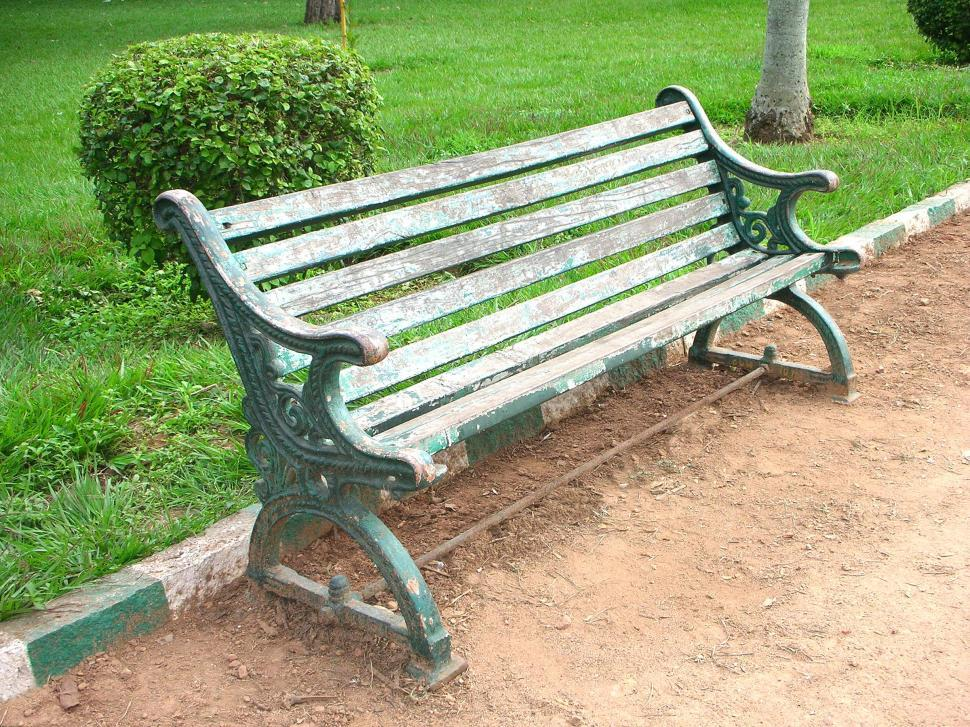 Download Free Stock HD Photo of Wooden Seat in a Park Online