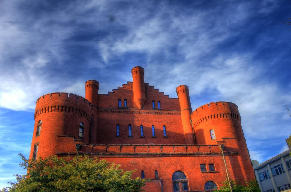 Download Free Stock HD Photo of Red Gym Castle Online