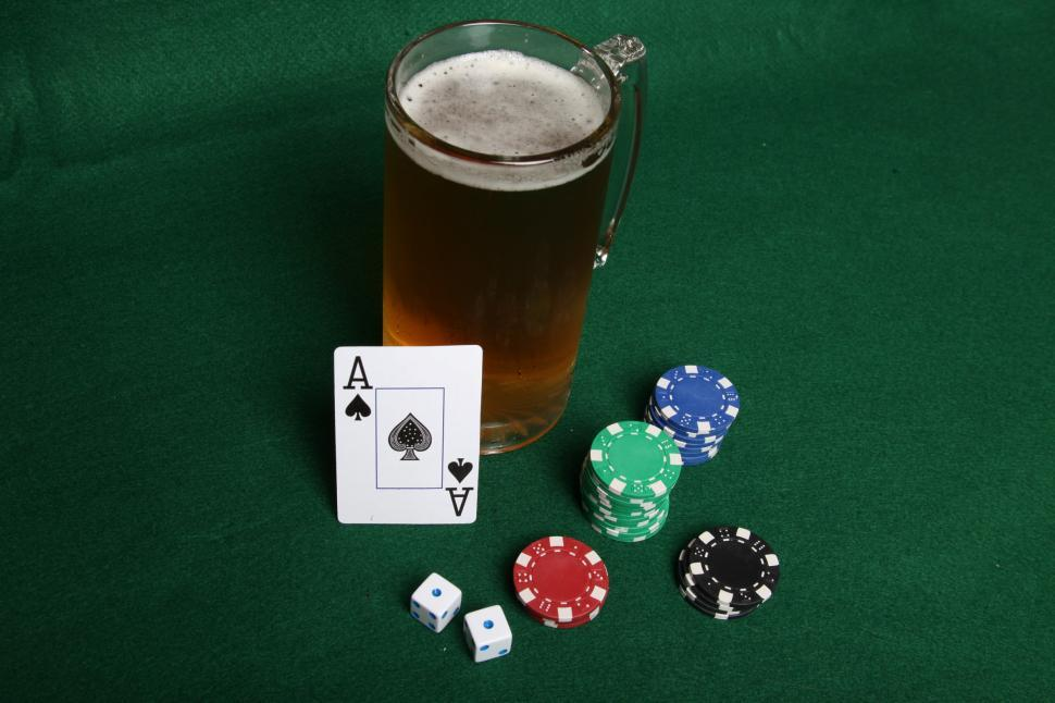 Download Free Stock HD Photo of Gambling and beer Online