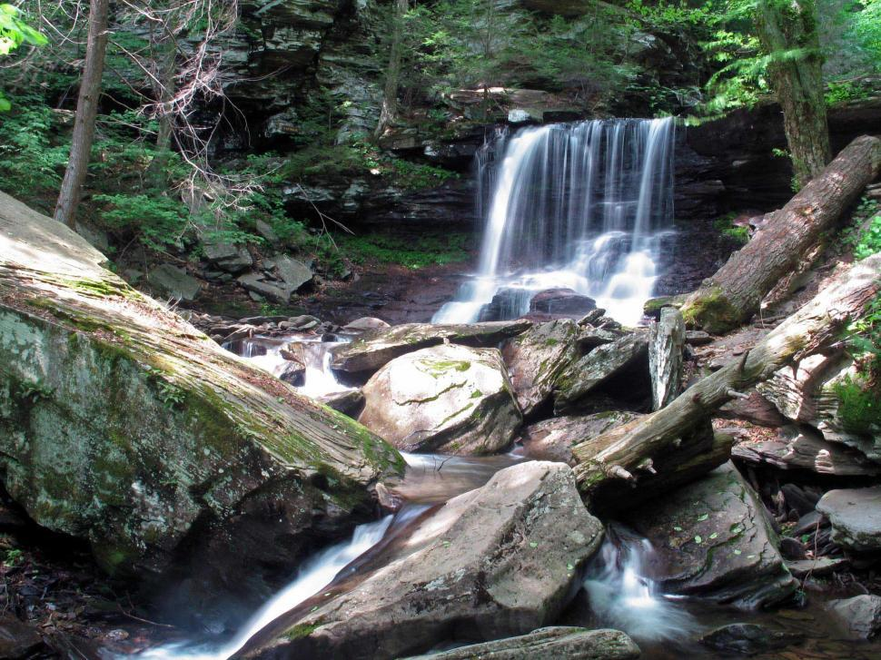 Download Free Stock HD Photo of Waterfall at Ricketts Glen State Park, Pennsylvania Online
