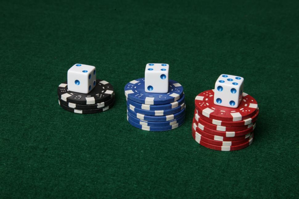 Download Free Stock HD Photo of Poker chips and dice Online