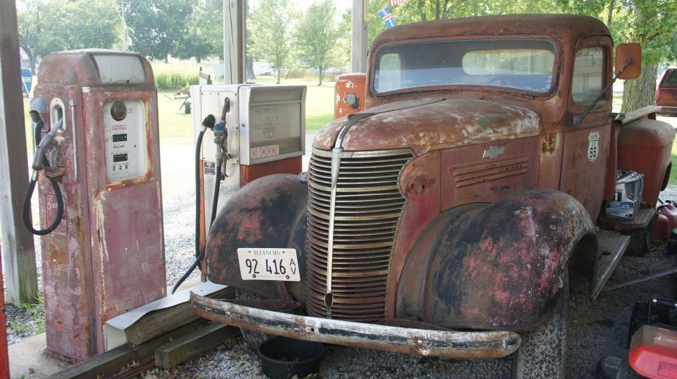 Download Free Stock HD Photo of Broken Down Classic Truck Online