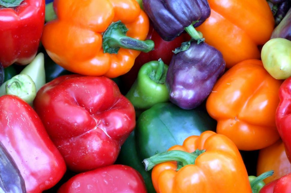 Download Free Stock HD Photo of Mixed Bell Peppers Online