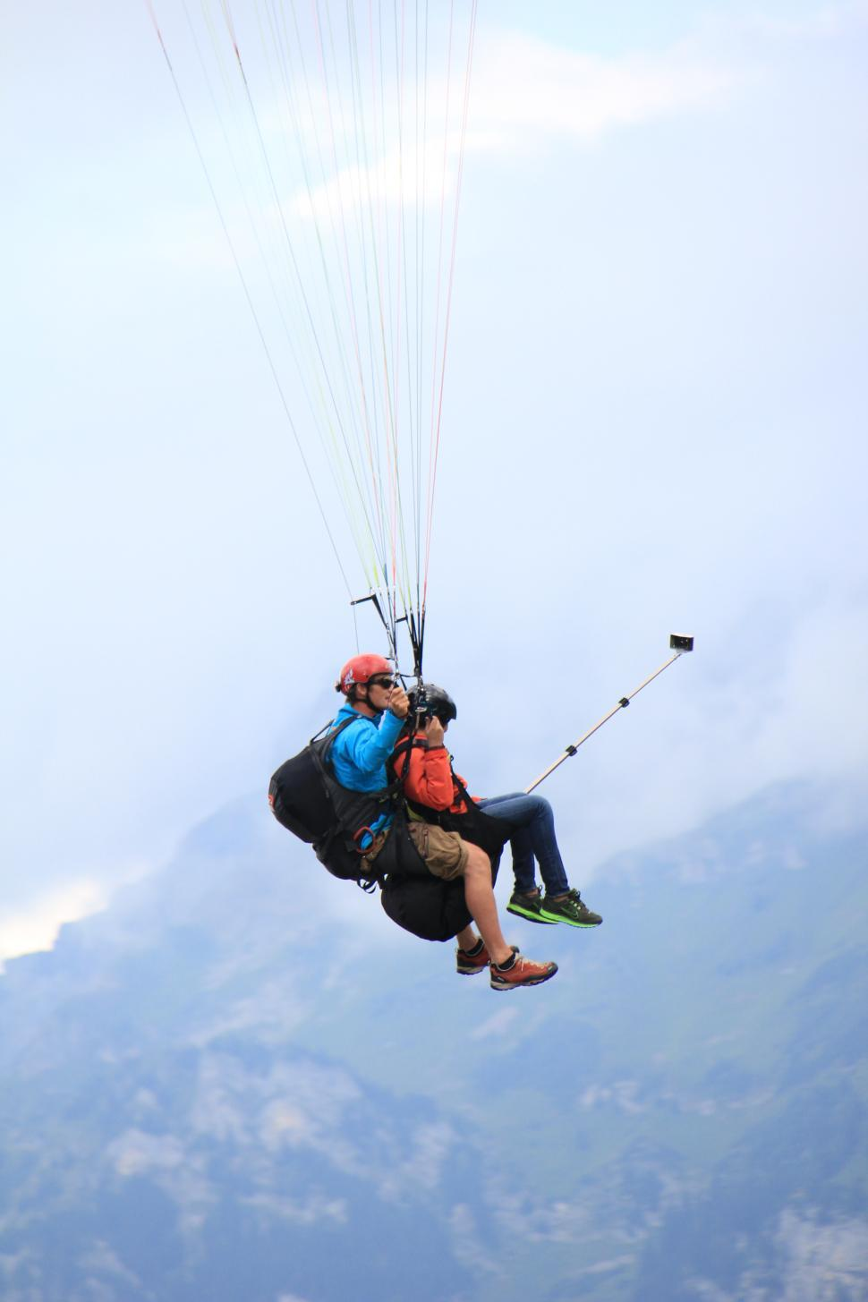 Download Free Stock HD Photo of Paragliding Switzerland Online