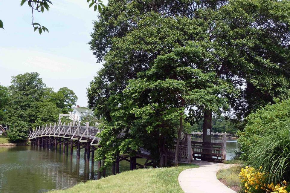 Download Free Stock HD Photo of Foorbridge across lake Online