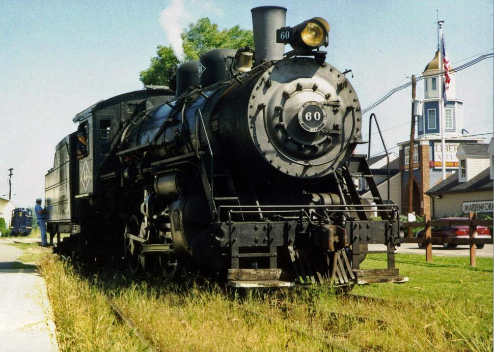 Free image of Old stream train getting ready for a  sight seeing trip in PA.