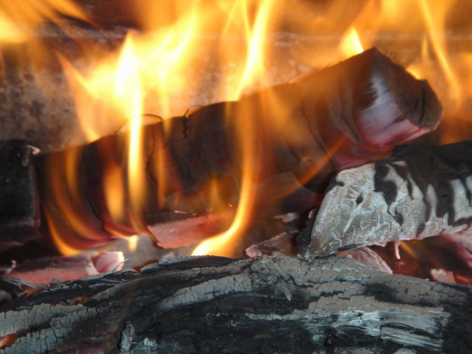Download Free Stock HD Photo of Burning Fireplace Online