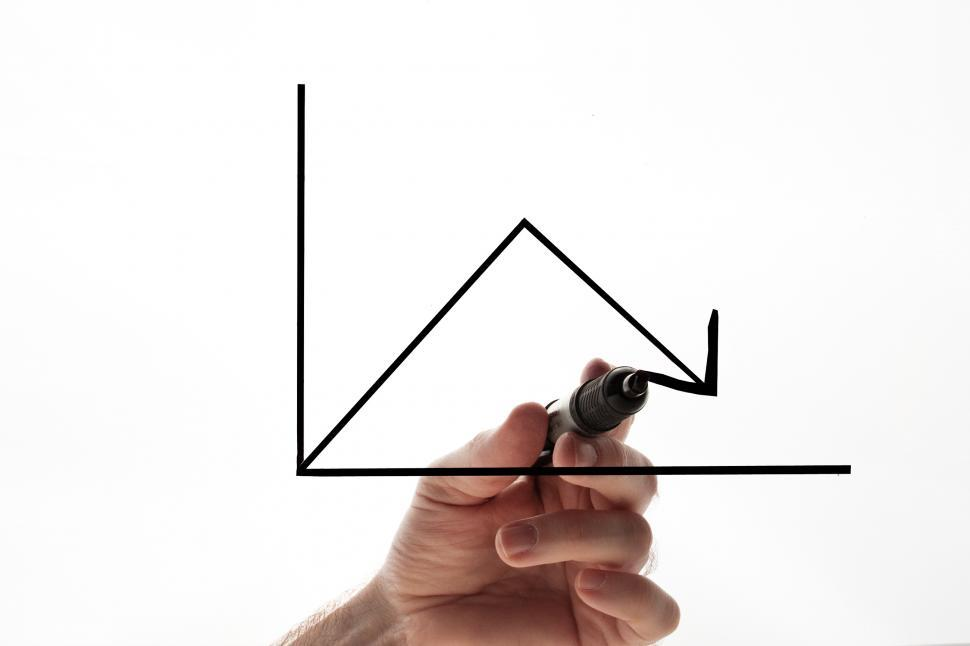 Download Free Stock HD Photo of Graph and hand Online